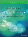 Emerging Cancer Therapy (eBook): Microbial Approaches and Biotechnological Tools