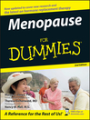 Menopause For Dummies (eBook)