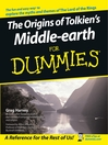 The Origins of Tolkien's Middle-earth For Dummies (eBook)
