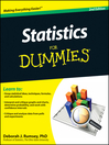 Statistics For Dummies (eBook)