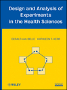 Design and Analysis of Experiments in the Health Sciences (eBook)