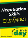 Negotiating Skills In a Day For Dummies (eBook)