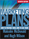 Marketing Plans (eBook): How to Prepare Them, How to Use Them