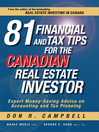 81 Financial and Tax Tips for the Canadian Real Estate Investor (eBook): Expert Money-Saving Advice on Accounting and Tax Planning