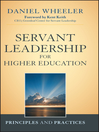 Servant Leadership for Higher Education (eBook): Principles and Practices