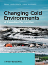 Changing Cold Environments (eBook): A Canadian Perspective