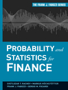 Probability and Statistics for Finance (eBook)