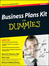 Business Plans Kit For Dummies (eBook)