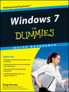 Windows 7 For Dummies Quick Reference (eBook)