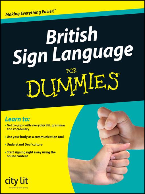British Sign Language For Dummies® (eBook)