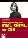 Beginning Web Programming with HTML, XHTML, and CSS (eBook)