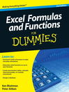 Excel Formulas and Functions For Dummies (eBook)