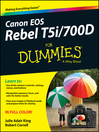 Canon EOS Rebel T5i/700D For Dummies (eBook)