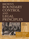 Brown's Boundary Control and Legal Principles (eBook)