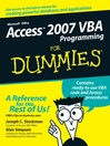 Access 2007 VBA Programming For Dummies (eBook)