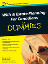Wills and Estate Planning For Canadians For Dummies (eBook)