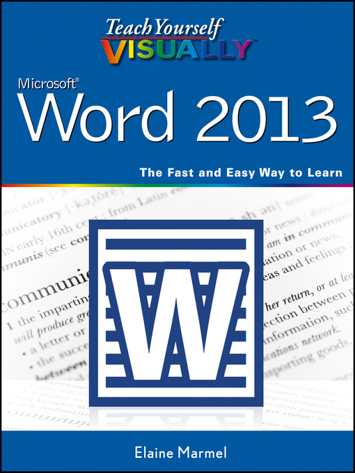 Teach Yourself VISUALLY Word 2013 (eBook)