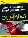 Small Business Employment Law For Dummies (eBook)