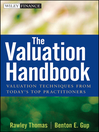 The Valuation Handbook (eBook): Valuation Techniques from Today's Top Practitioners