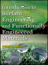 Introduction to Surface Engineering and Functionally Engineered Materials (eBook)