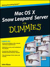 Mac OS X Snow Leopard Server For Dummies (eBook)