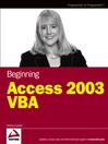 Beginning Access 2003 VBA (eBook)