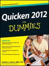 Quicken 2012 For Dummies (eBook)