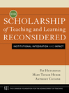 The Scholarship of Teaching and Learning Reconsidered (eBook): Institutional Integration and Impact