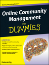 Online Community Management For Dummies (eBook)