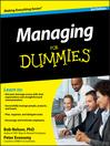 Managing For Dummies (eBook)