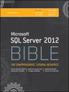 Microsoft SQL Server 2012 Bible (eBook)
