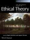 The Blackwell Guide to Ethical Theory (eBook)