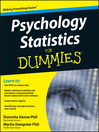 Psychology Statistics For Dummies (eBook)
