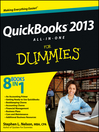 QuickBooks 2013 All-in-One For Dummies (eBook)