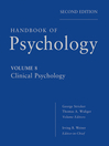 Handbook of Psychology, Clinical Psychology (eBook)