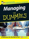 Managing For Dummies (eBook)