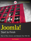 Joomla! Start to Finish (eBook): How to Plan, Execute, and Maintain Your Web Site