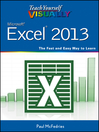 Teach Yourself VISUALLY Excel 2013 (eBook)