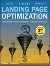 Landing Page Optimization (eBook): The Definitive Guide to Testing and Tuning for Conversions