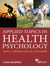 Applied Topics in Health Psychology (eBook)