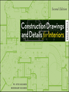Construction Drawings and Details for Interiors (eBook): Basic Skills