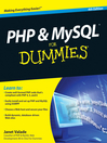 PHP and MySQL For Dummies (eBook)