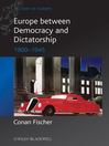 Europe between Democracy and Dictatorship (eBook): 1900--1945