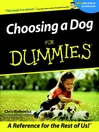 Choosing a Dog For Dummies (eBook)