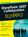 SharePoint 2007 Collaboration For Dummies® (eBook)