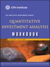 Quantitative Investment Analysis Workbook (eBook)