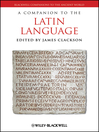 A Companion to the Latin Language (eBook)