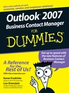 Outlook 2007 Business Contact Manager For Dummies (eBook)