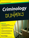 Criminology For Dummies (eBook)