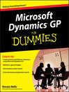 Microsoft DynamicsTM GP For Dummies® (eBook)
